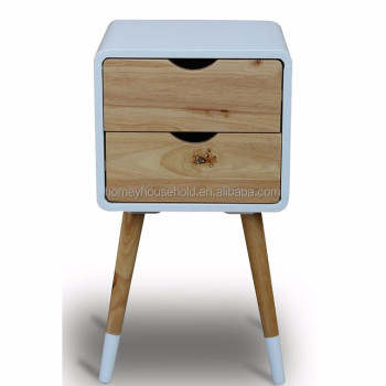 Scandinavian bedroom set bedside table wooden nightstand with 2 drawers  sc 1 st  Alibaba : set of bedside tables - pezcame.com