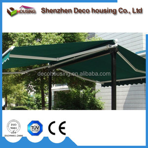 Convenient using retractable two sides anwing/motorized free standling awning