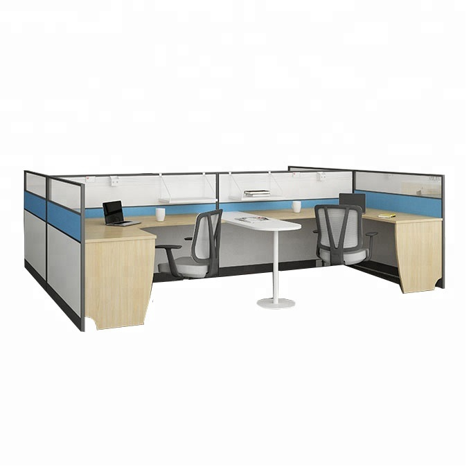 4 seats office aluminum frame partition modular cubicle office workstation desk