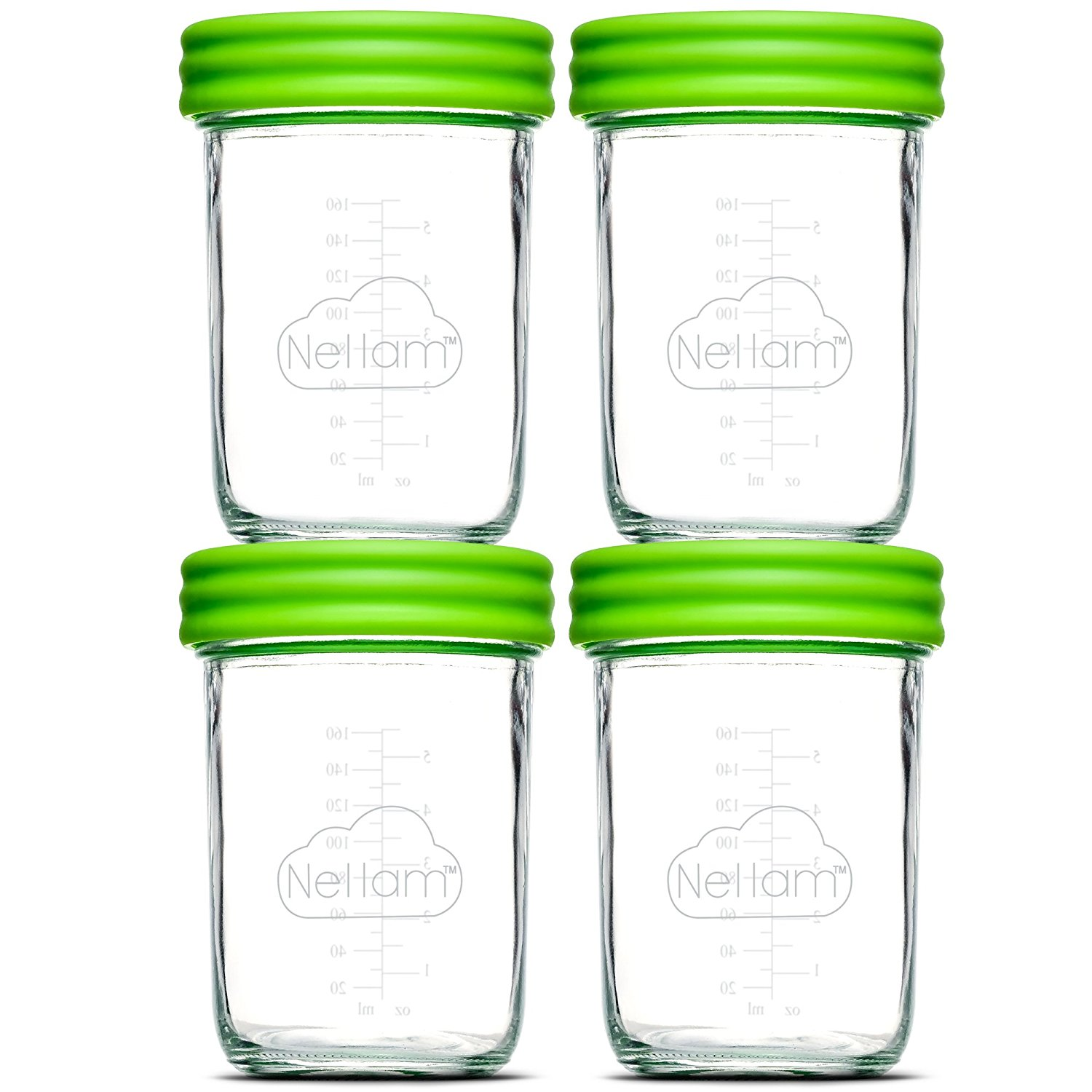 Get Quotations · Nellam Baby Food Storage Containers - Leakproof Airtight Glass Jars for Freezing u0026 Homemade  sc 1 st  Alibaba & Cheap Baby Food Jars Bulk find Baby Food Jars Bulk deals on line at ...