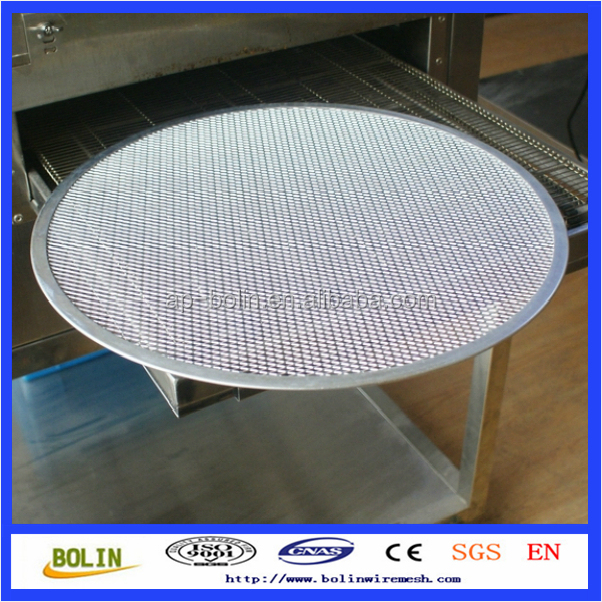 round hole perforated metal screen / expanded metal mesh / perforated pizza tray (free sample)
