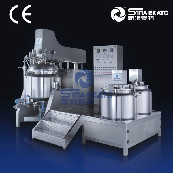 CE, GMP certificated high shearing homogenizing vacuum emulsion mixer for mayonnaise, sauce, jam making from China manufacturer
