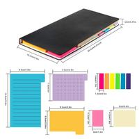 Office Stationery Colorful Mini Divider Sticky Notes With Bookmark Index
