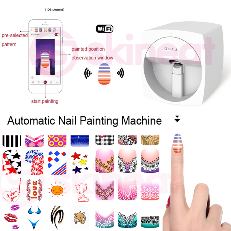 Populaire O2nails Professionele Digitale 3D Mobiele Nail Art Printer