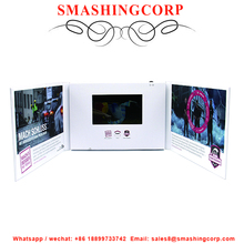 2017 promotional OEM printing video brochure, 4.3 inch TFT lcd video greeting card, lcd video player brochure