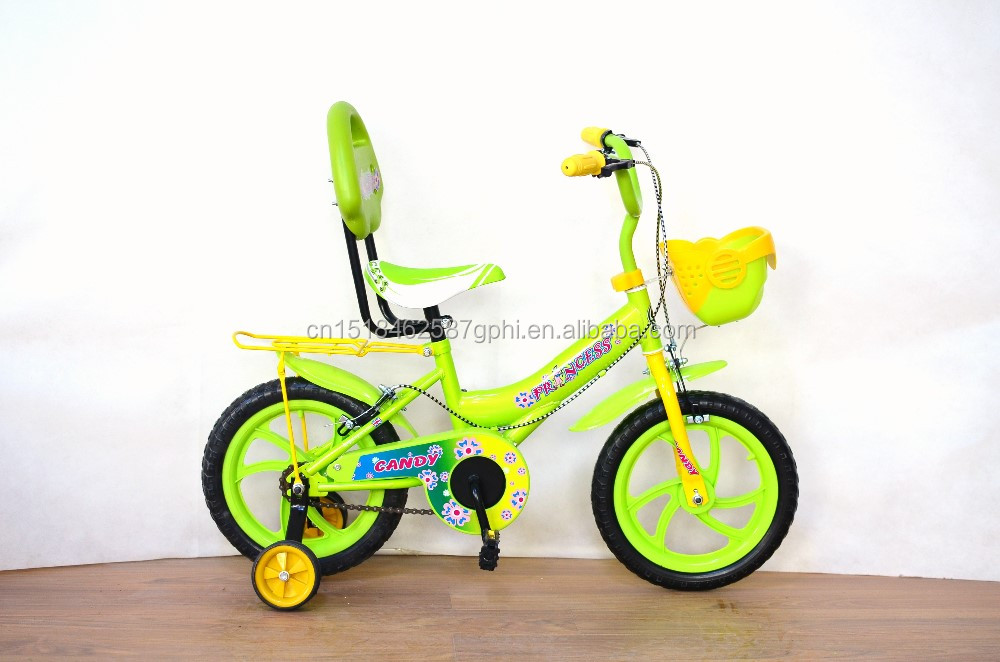 14 inch kids bike with back rest children bicycle colorful