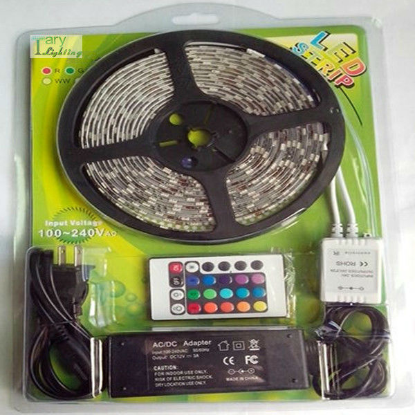 Flexible SMD3528 RGB LED strip lighting kit With Controller