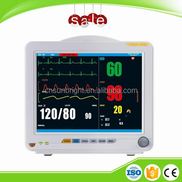 Portable and Handheld Easy Operate Patient Monitor with Battery