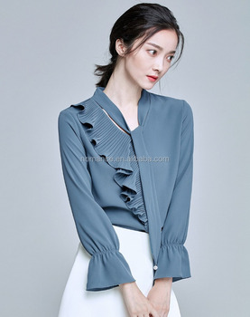4fe2071b48e65b Custom Fashion Ladies Office Wear Women Formal Shirts Designs - Buy ...