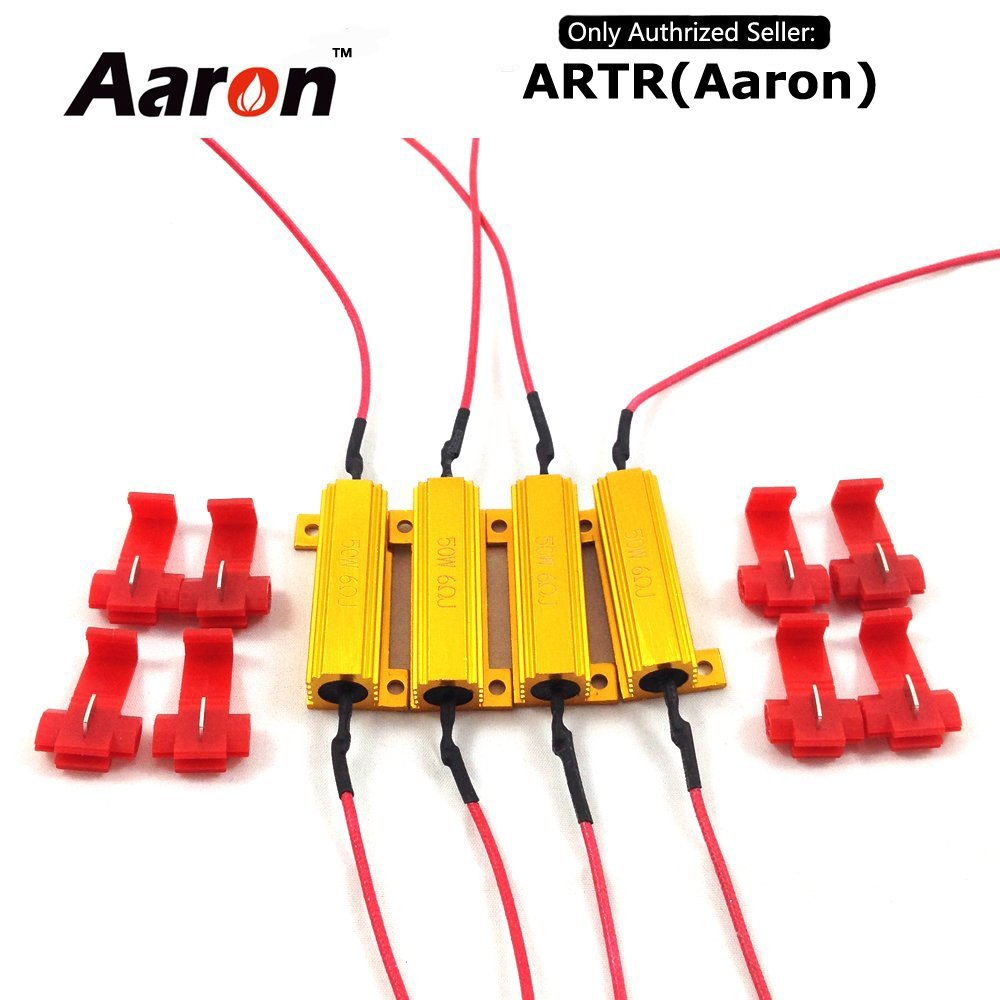 Cheap 47 Ohm Fusible Resistors Find Deals Working Of Get Quotations 4pcs Aaron 50w 6ohm Load Fix Led Bulb Fast Hyper Flash Turn Signal Blink
