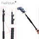 1/4 Screw Mount Extension Micro Boom Pole Microphone Mic Holder 3 Section Boom pole For Stereo Video Mic Stereo Video Mic Pro