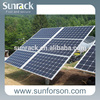 200kw solar panel system solar pole mount