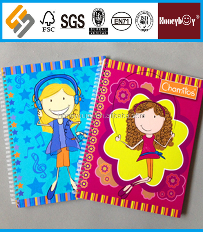 quality binder cartoon spiral hardcover notebook