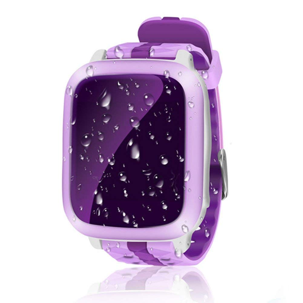 Novelty GPS Children Smart Watch,DS18 GPS Watch Children Smart Watch WiFi Locator Tracker GPS Wristwatch Waterproof SOS Call Smartwatch Child for iOS Android(394713.9mm,Purple)