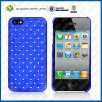 BLUE Luxury Bling Glitter Diamond Chrome Rhinestone china cellphone accessories For iPhone 5