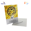 Factory yellow dreamlike rose and animal music card