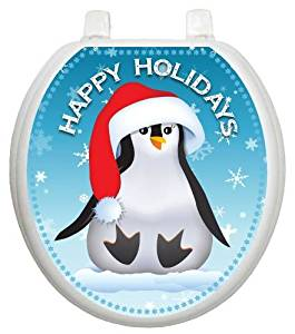 Buy Toilet Tattoos Holiday Happy Penguin Toilet Seat Decal in Cheap ...