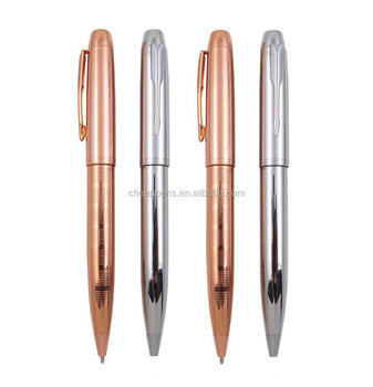 New Arrival Rose Gold Metal Ball Pen, Twist Ballpoint Pen