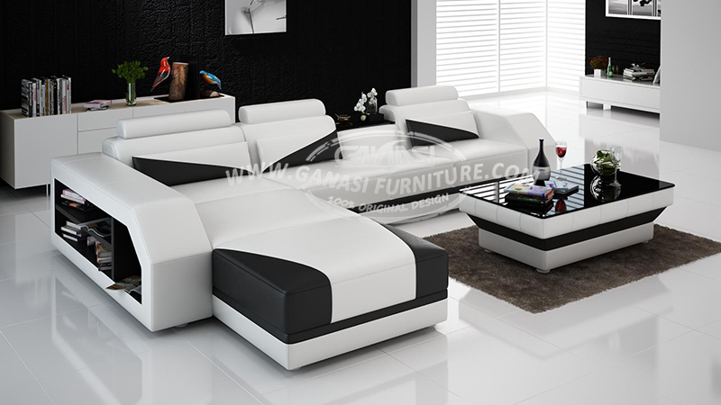 Foshan modern sofa furniture supplier ganasi leather sofa set design home furniture buy home Buy model home furniture online