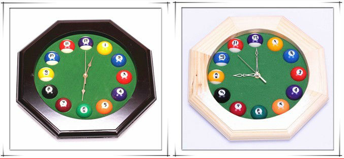 OEM Home Decoration Solid Wood Billiard Wall Clock