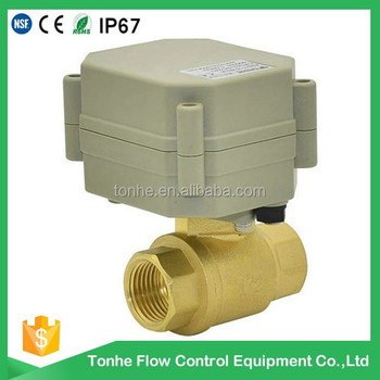 2 way DN10 brass 12v 24v motorized actuator water electric ball valve