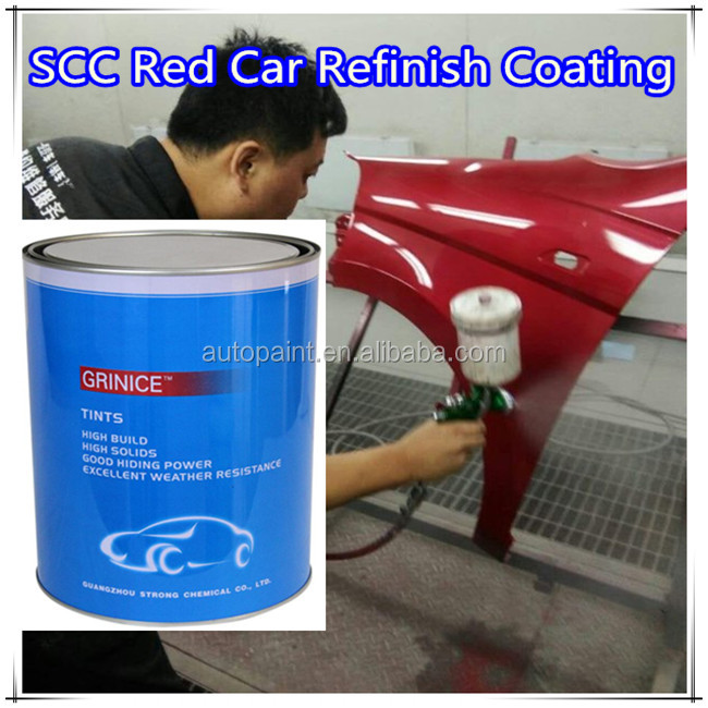 acrylic normal colors bright red car refinish paint car <strong>coating</strong>