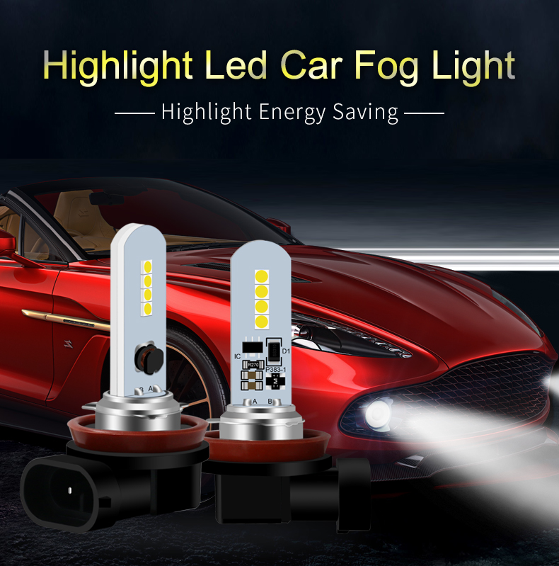 Yellow Lamp H8/H11-8Smd-3030 Fog Lights Accent Amber Bulb