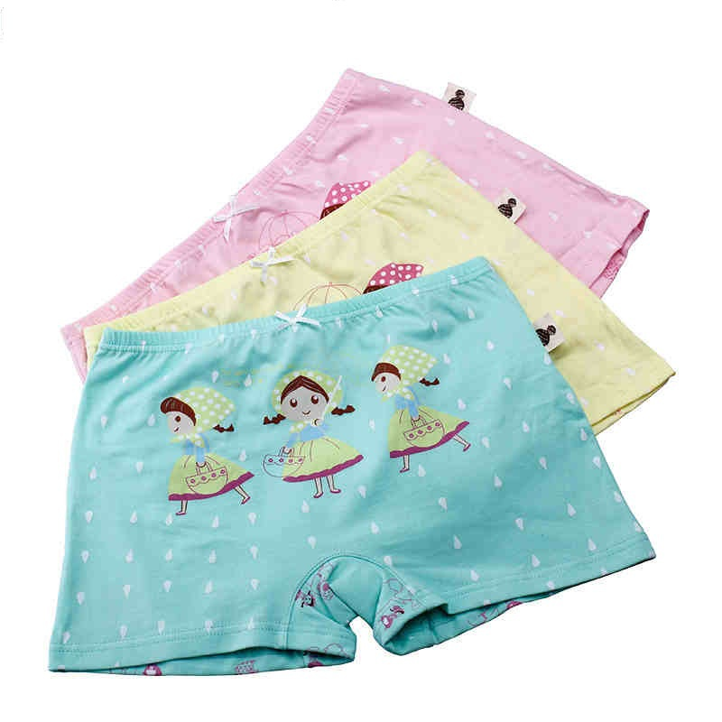 3pcs  Good Quality Cute Girls Tight Cotton Cartoon Underwear Baby Kids Panties Children Soft Cotton Underpanties Top Sale