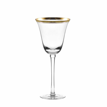 Hot sale vintage design gold rim and silver rim wine glass non lead crystal red wine glasses for wedding and party