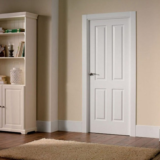 Top quality interior hinged particle board wood door
