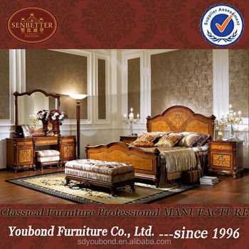 0051 Antique Mahogany venner bedroom set furniture, American country style  wood bed, View Mahogany bedroom furniture, SENBETTER Product Details from  ...