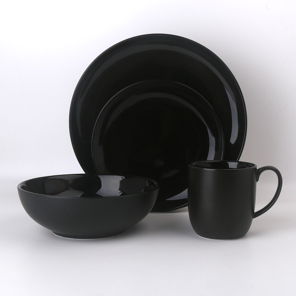 Colore nero di Forma Quadrata Custom Design In Ceramica Fine Porcellana Nuovo Bone China Set di Stoviglie