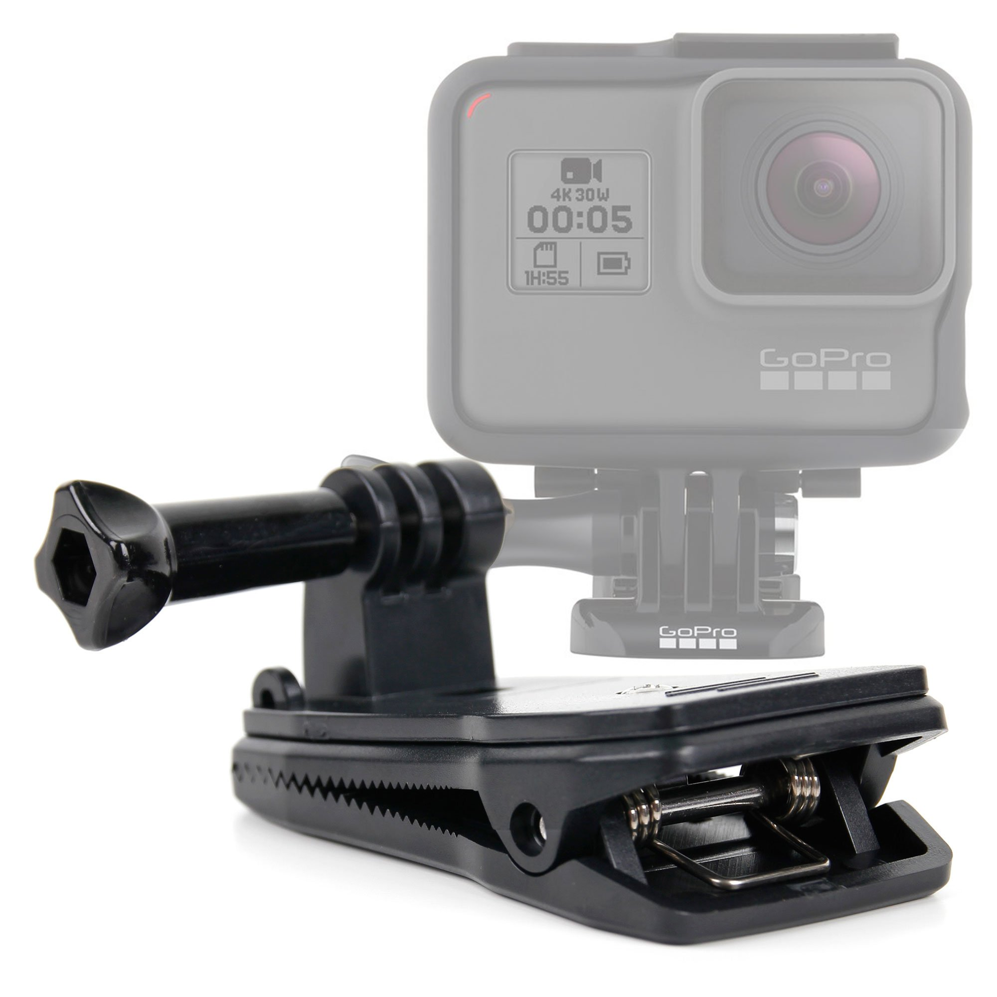 DURAGADGET Camera Mount Quick Clip Jaws Clamp Mount with Straight Bolt Screw Connector for GoPro HERO6, HERO5, HERO5 Session, HERO4, HERO3+,Hero 2,HD Hero 1 & Hero