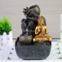 copper bronze color resin buddha religious water fountain