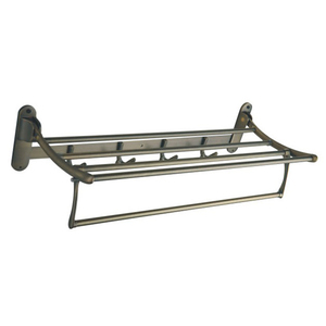 Wall Mount Metal Stainless Steel Double Wire Towel Rack