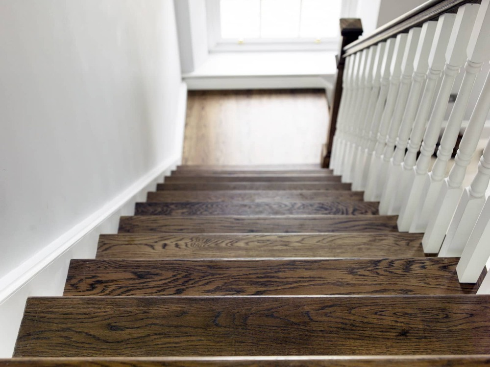 Interior stair tread wooden/stair step wooden <strong>floor</strong> wholesale