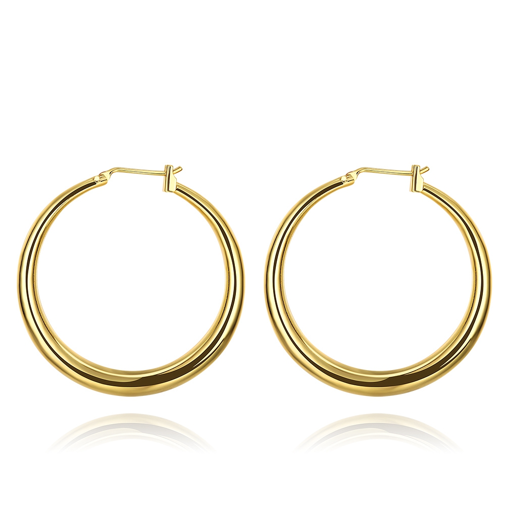 Simple Gold Design Cheap Funky Round Clip Earrings For Girls - Buy ...
