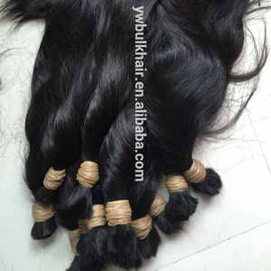 60cm 70cm 80cm 90cm 100cm black indian virgin remy wet n wavy human hair bulk