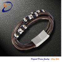 Fashion Bead Leather Bangle Bracelet Custom Bracelet