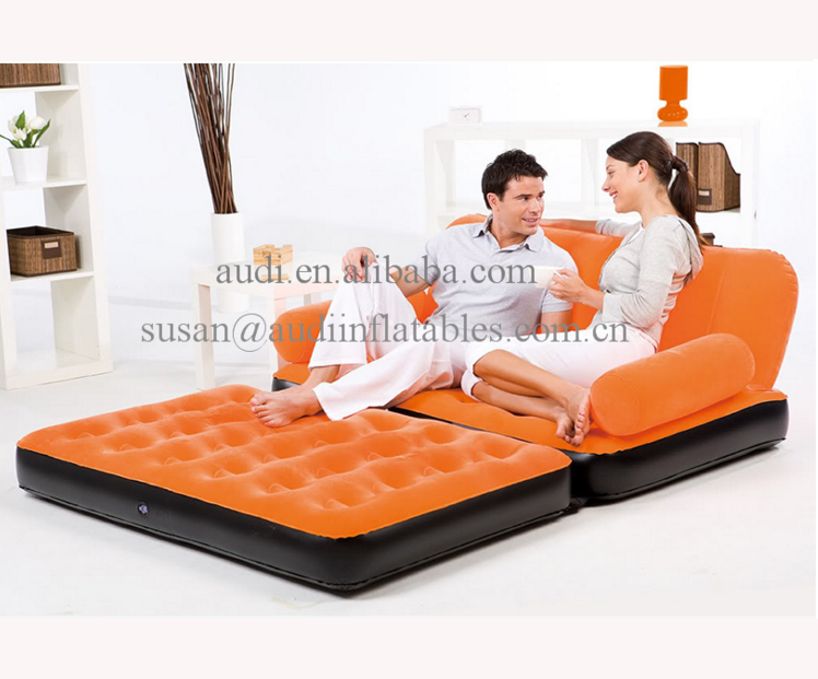 Incredible 5 In 1 Velvet Lounger Inflatable Sofa Bed With Pump Orange Inflatable Air Lying Chair Flocking Material Sofa Buy Inflatable Sofa Bed Sofa Machost Co Dining Chair Design Ideas Machostcouk