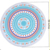Beach Gift Thick Round Beach Towel Blanket Microfiber Yoga Mat with Tassel Circle Picnic Carpet