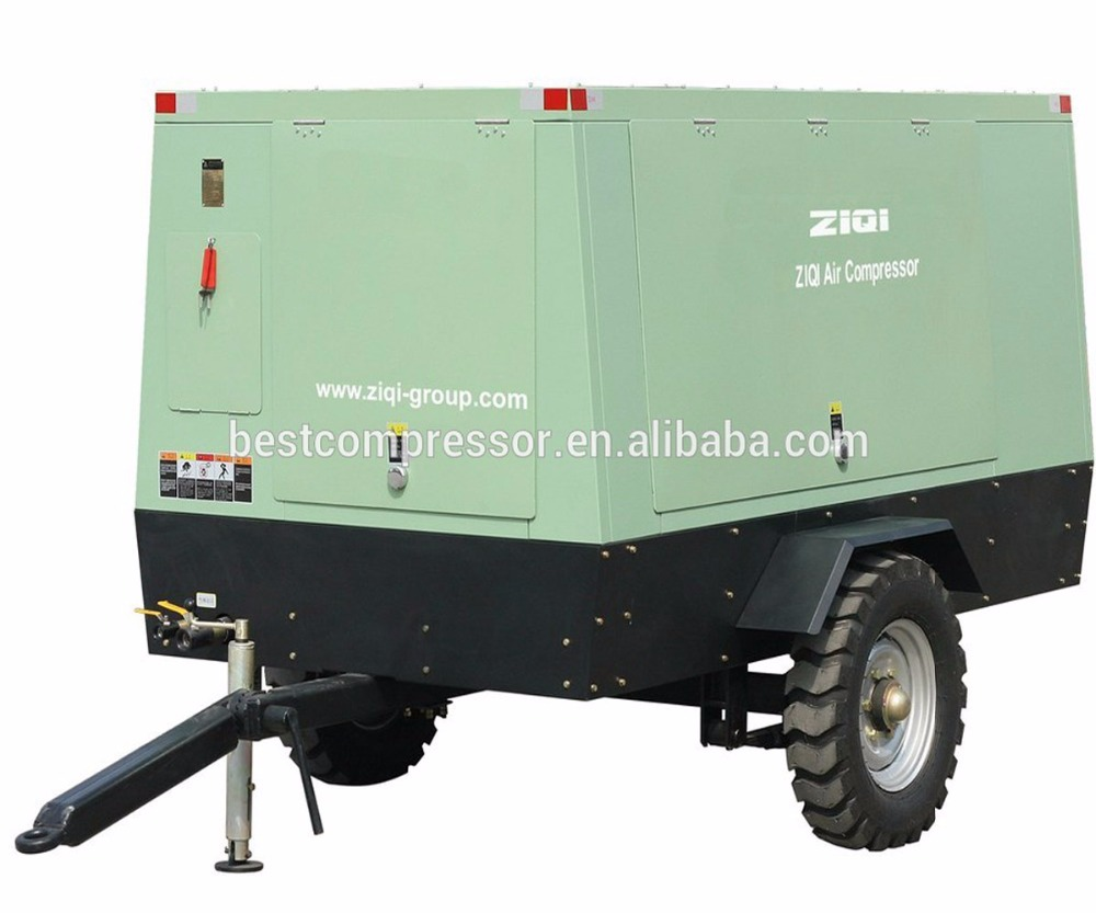 13bar screw portable diesel engine air compressors for road construction
