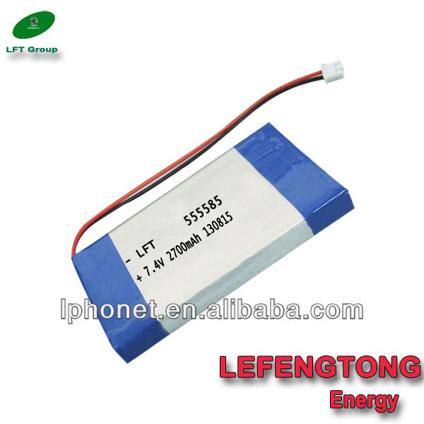 7.4v lipo batteries 2700mah aa nimh rechargeable battery for lap tops