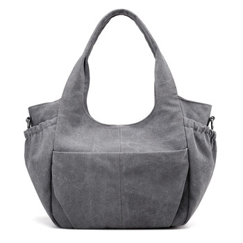 Trendy Women plain tote bag large capacity message bags sports durable  canvas shoulder bag 2c00319483f19