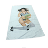 custom printed square adults microfiber beach towel with bag