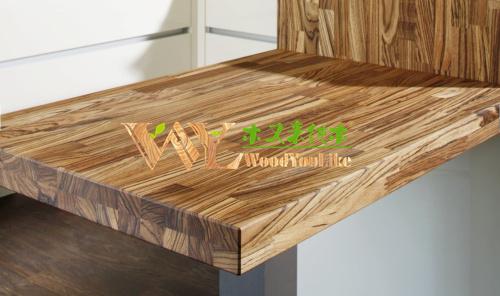 China fabrikant van massief houten keuken werkblad zebrano ...