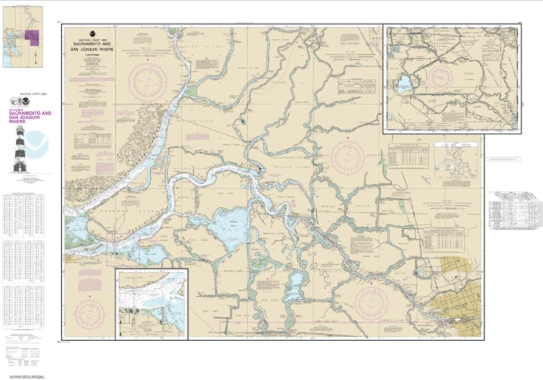 NOAA Chart 18661-Sacramento and San Joaquin Rivers Old River, Middle River and San Joaquin River extension; Sherman Island