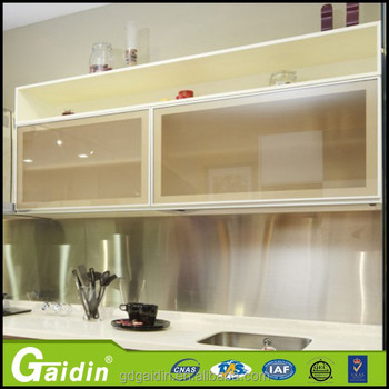 Gaidin Dapur Bingkai Aluminium Profil Kabinet Dinding Lemari Kaca Pintu Untuk Penuh
