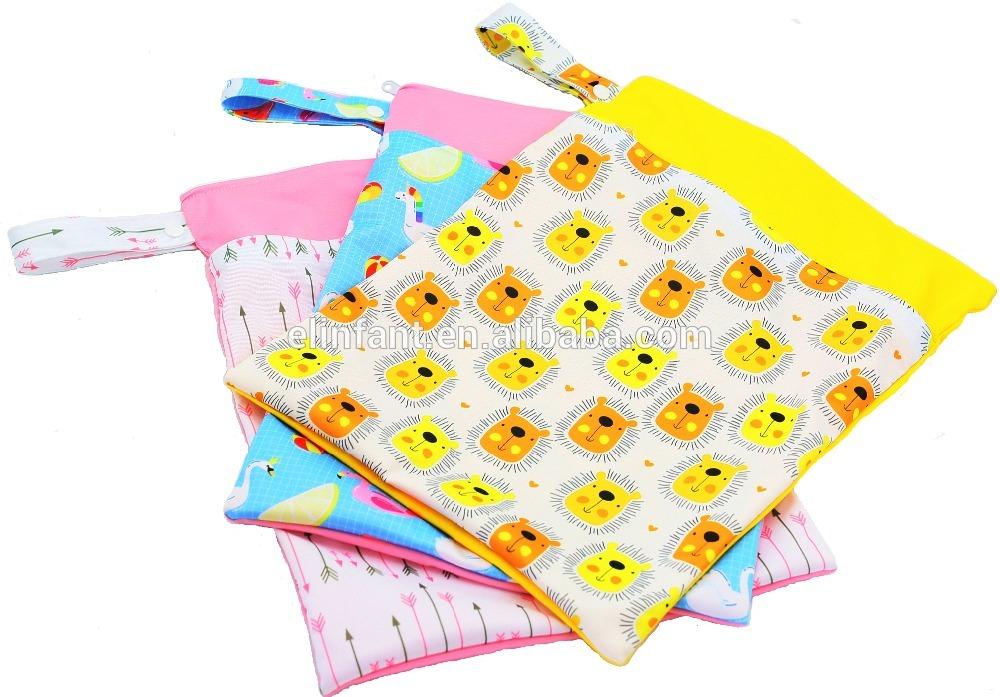 Wholesale Waterproof Bag Baby Felt Diaper Wet Bags Diaper