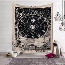 МАНДАЛА ГОБЕЛЕН настенный колдовский хиппи пляжный ковер Солнце Луна гобелены богемный домашний арт Psychedelic Декор(Китай)